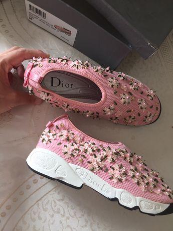 Кроссовки Сникерсы Dior новые в коробке, размер 38