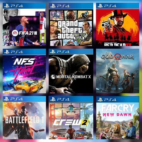 FIFA 21 GTA 5 RDR2 NFS MK X Uncharted 4 Far cry цифровой версия PS4
