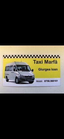 Transpor marfa in regim taxi