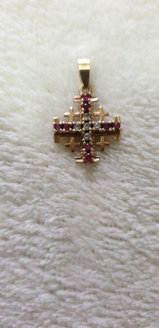 Medalion Crucea Ierusalimului aur