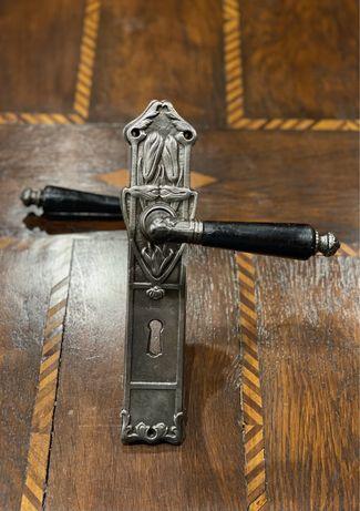1721at Set manere poarta si ornamente Art Nouveau din fier 1910.