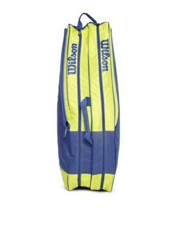 Geanta tennis wilson albastru cu galben