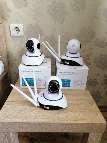 Смарт Въртяща се Wi-Fi Камера + Бебефон (Нови Запечатани)