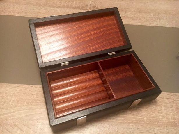 Cutie masiva din lemn trabucuri humidor / umidificator