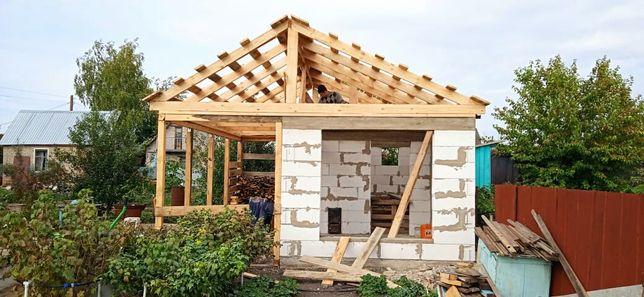 Строительство домов,бань,дач как в черновую так и под ключ.
