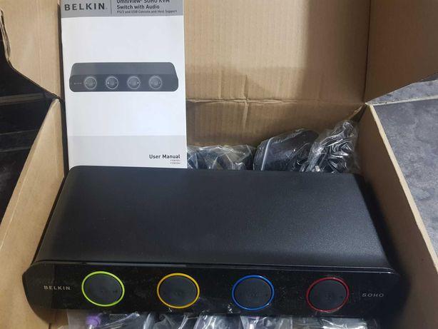 Belkin Switch KVM Belkin F1DH104LEA, 4 porturi, Rezolutie: 2048 x 1536
