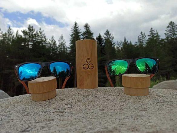 Слънчеви очила GGSun с ръчно изработени бамбукови рамки