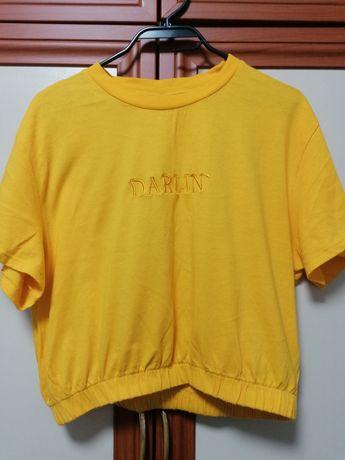 H&M скъсена блуза