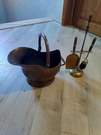 Set accesorii pentru șemineu din alama