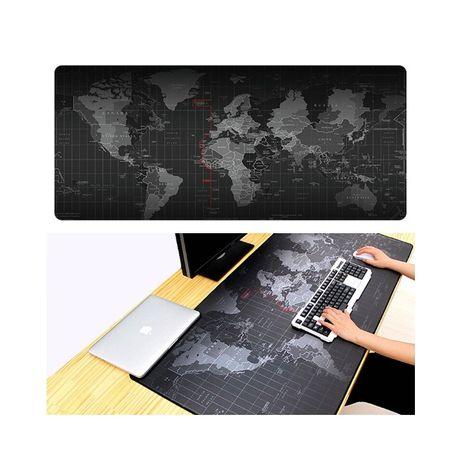 Голяма подложка за копютър и мишка с карта ан света - 30 х 90 см