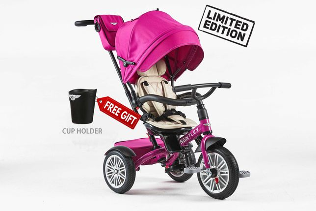 Tricicleta pentru copii Bentley 6 in 1 Pink Fuchsia