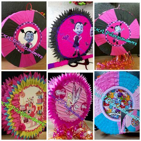 Piñata HelloKitty,Vampirina,RainbowDash,Barbie,Pisică,Prințese,Castel