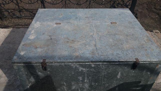 Ящик деревянный оцинкованный