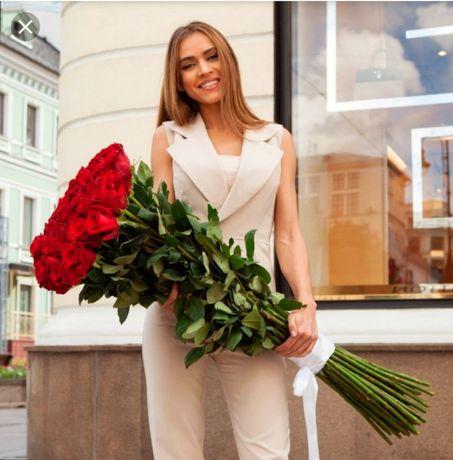 Розы 100см по 900тг. ДОСТАВКА!