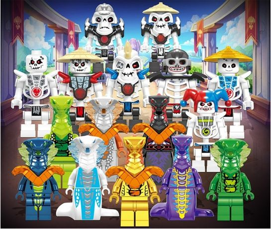 Set 16 Minifigurine tip Lego Ninjago sezon 11 cu Samukai si Anacondrai