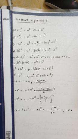 Formule BAC mate info / stiintele naturii TEORIE matematica cls 9-12