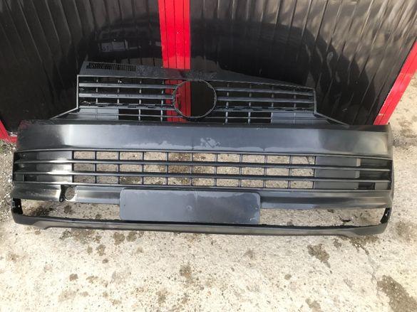 Оригинална предна броня с решетка за Volkswagen Transporter T6 след 2