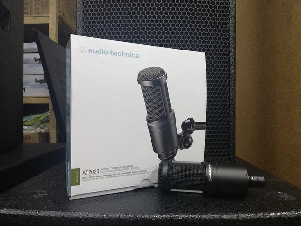 Микрофон AT2020 с фантомным питанием