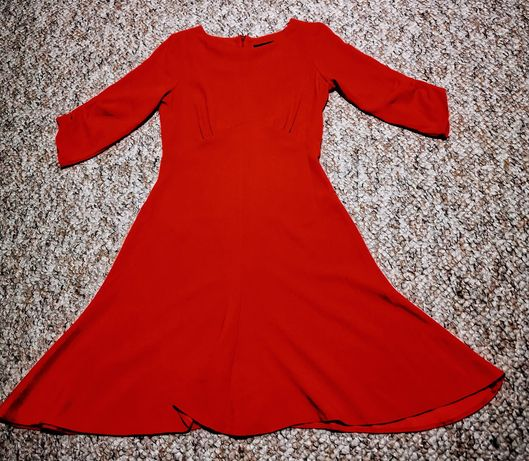Rochie corai, marimea 10 (S), noua, fara eticheta, lungime 90 cm