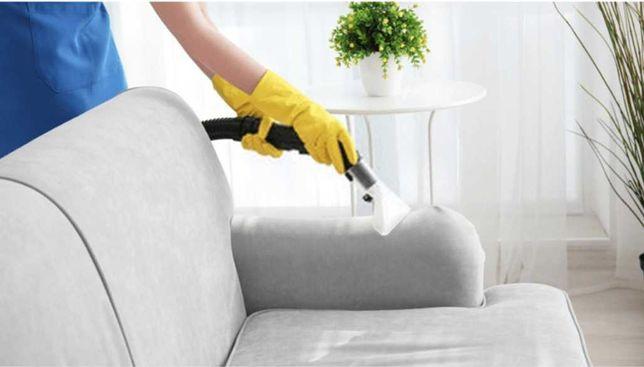 Curatare canapele textile,  mocheta la domiciliul clientului.