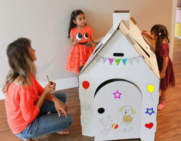 Картонный домик - не новогодний дизайн