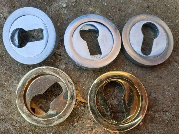 Rozeta protectie pentru cilindru/Masca inox pt usi metalice lemn etc