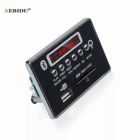 KEBIDU Аудио Плейър 5V/12 V модул за вграждане Bluetooth 5.0FM, TF,Mp3
