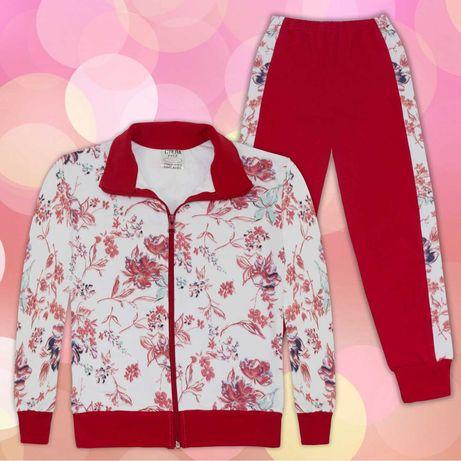 Комплект на цветя 2 в бяло и червено