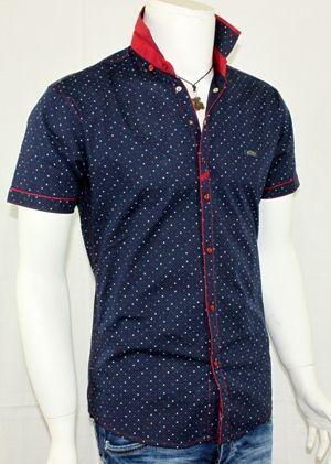 Мъжка вталена риза къс ръкав 25лв