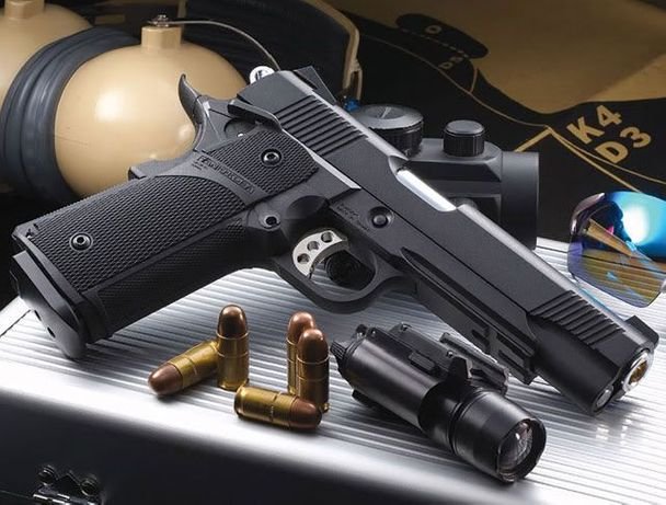 Pistol ULTRA PUTERNIC Airsoft FULL METAL cu aer comprimatMODIFICAT Co2