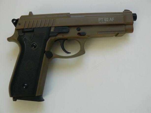 Pistol Airsoft TAURUS PT92 Metal Slide TAN, Nou, Prod. CyberGun, 0,5 J