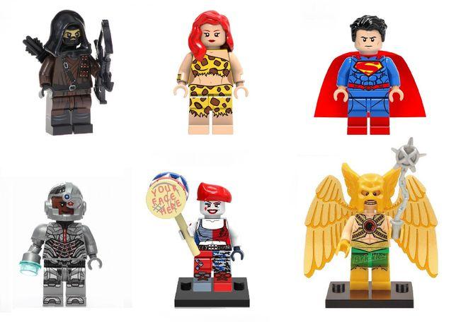 Figurine tip LEGO DC Comics, Superman, Harley Quinn, Hawkman, NOI
