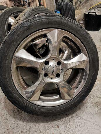 джанти с гуми 17 цола хромирани