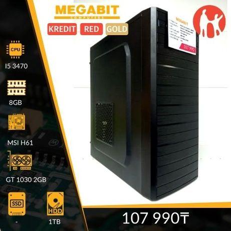 Игровой системный блок Core i5-3470/GT1030-2GB/1TB Магазин Мегабит