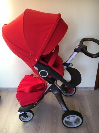 Детска количка doux bebe 2 в 1 червена