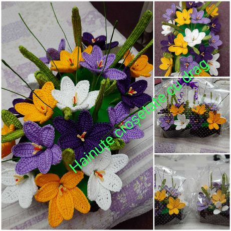 Flori croșetate cu drag
