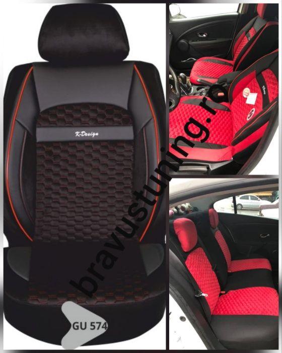 Husa auto Elitte Lux,tip romb,deschidere airbag,bancheta 1/3-2/3