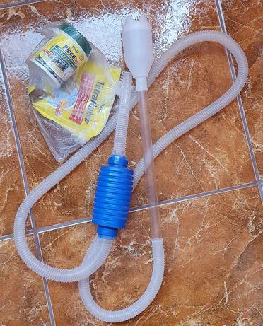 Pompa manuala curatare acvariu si hrana pesti