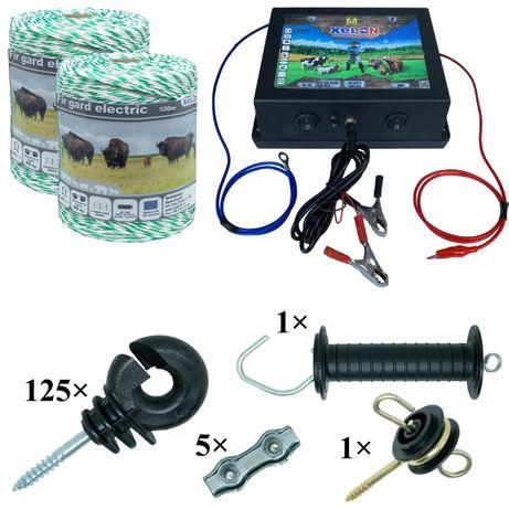 Pachet gard electric 1000M fir, izolatori, aparat gard electric 4J