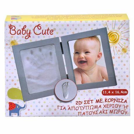 Бебешки отпечатък с рамка за снимка - 2 размера