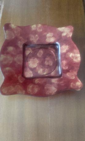 Farfurie ornamentala din sticla