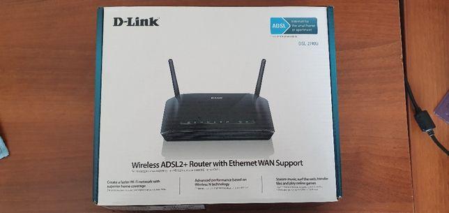 Беспроводной маршрутизатор DSL-2740U c поддержкой Ethernet WAN