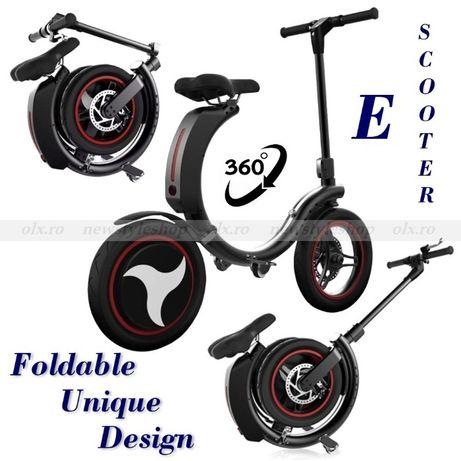 Scooter electric pliabil cu baterie suplimentară și piese de schimb