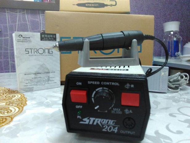Оригинал Машинка для аппаратного маникюра СТРОНГ-204! STRONG-204!