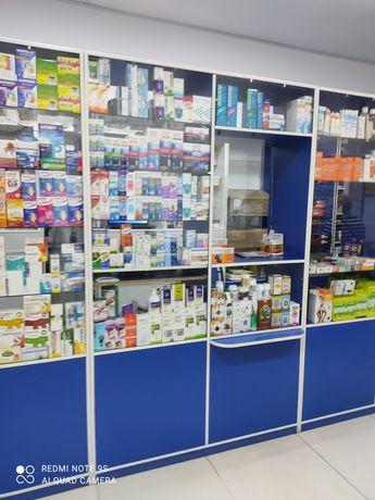 Мебель для аптеки Аптечные витринные шкафы и обычные шкафы