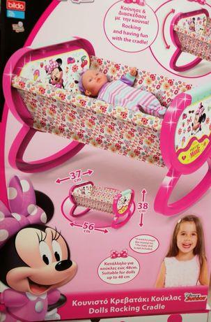 Бебешка бебешки кошара легло за кукли кукла Детски играчки Minnie