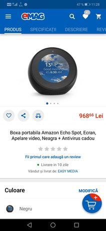 Amazon echo + priza, dulie bec, bec inteligent, sursa de iluminat