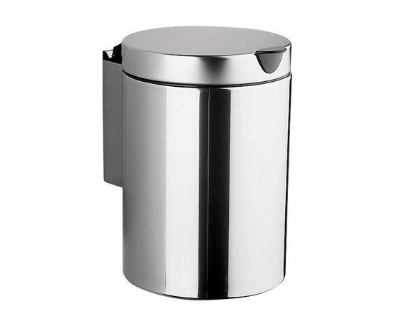 ПРОМОЦИЯ Кош за стена с вътрешна кофа INOX, 3 литра, h=26 см, d=17 см