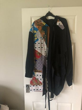 Jacheta parka blazer lung ASOS cu spatele gol, absolut unic, mar.L