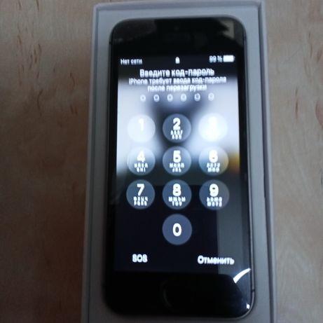 iPhone 5S с коробкой, зарядкой